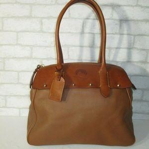Dooney & Bourke Wilson Brown Leather Large Satchel